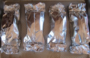 Foil baking packets