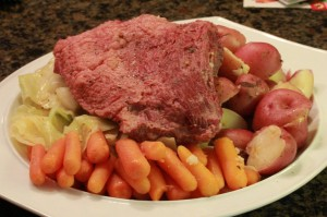 Corned Beef & Cabbage cooked