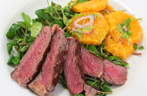 Salad Steak Watercress Orange