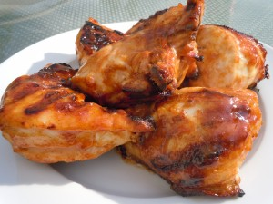 Chicken Barbecued with Orange Mustard Glaze