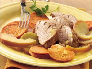 Pork Roast with Apples and Sweet Potatoes