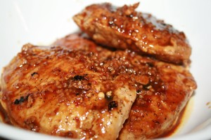 Almond Orange Pork Chops