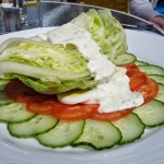 Iceberg lettuce Salad with Dressing