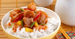 Pork Sweet and Sour over Rice