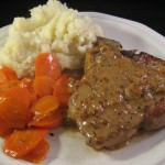 Veal Chops with Bourbon Cream Sauce