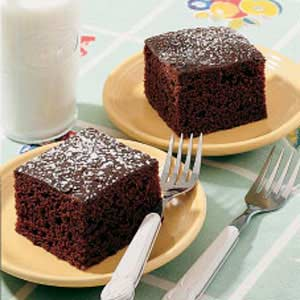 Spanish Cocoa Cake powered sugar