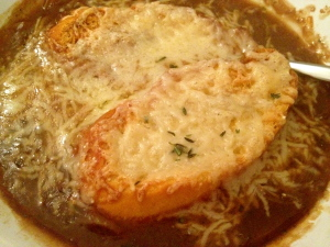 French Onion Soup with Barley