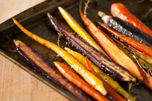 Harissa-and-Maple Roasted Carrots
