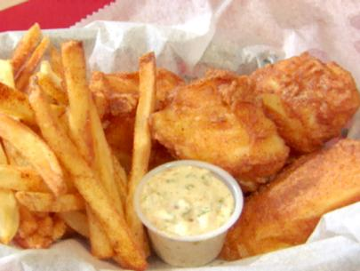 Beer battered fish fry recipes squared for Beer battered fish and chips