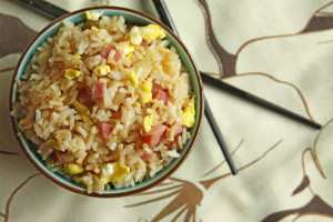 Chinese Restaurant Fried Rice with Ham