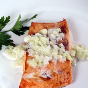 Salmon with Cucumber Cream