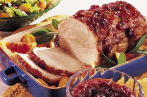 Pork Roast Cranberry citrus Glazed