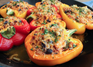 5-Ingredient Mexican Quinoa Stuffed Peppers