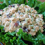 Chicken Salad with Green & Red Grapes