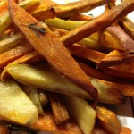 Roasted Sweet Potatoes and Vegetables Thyme and Maple Syrup