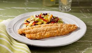 Potato Flake Crusted Baked Trout