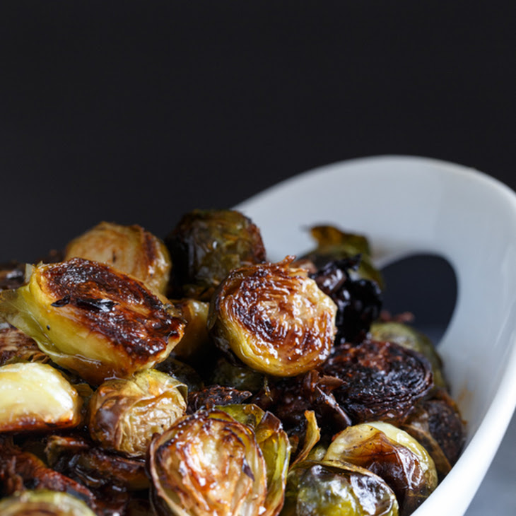 Honey Sriracha Roasted Brussels Sprouts | Recipes Squared