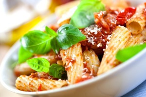 Rigatoni Red White & Green