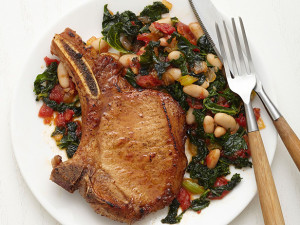 Pork chops with Chard and White Beans 2