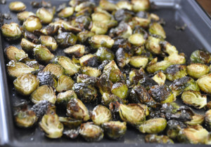 Brussels Sprouts Lemon Roasted