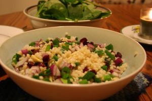 Cranberry almond couscous