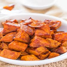 Honey-Roasted Sweet Potatoes with Honey-Cinnamon Dip
