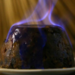 English Plum Pudding Flamed