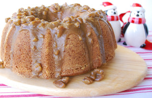 Pecan Cake East Texas with Butter Pecan Glaze