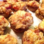 Hot and Spicy Bacon Stuffed Mushrooms