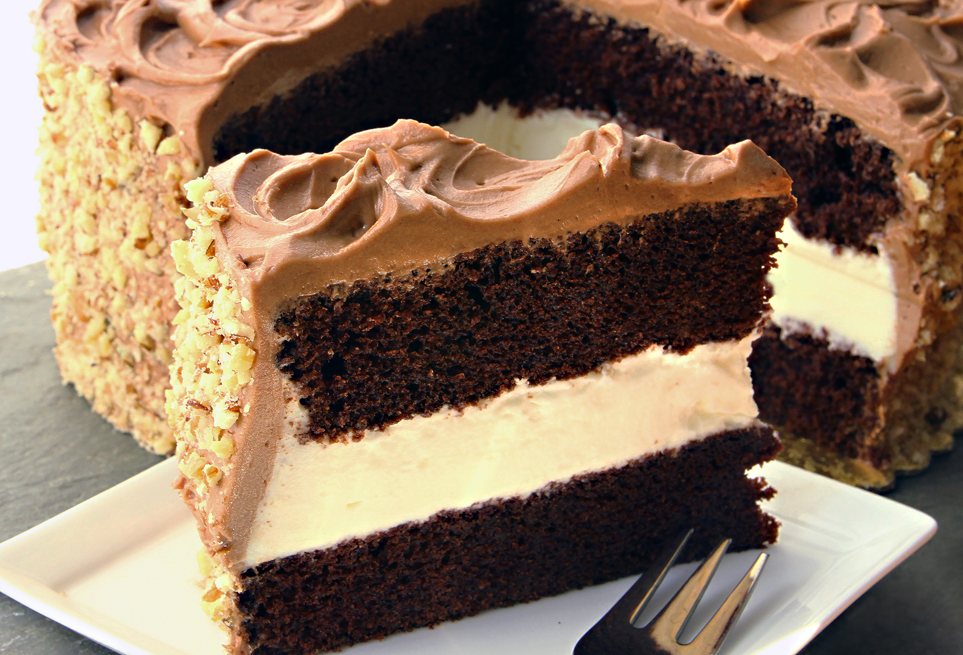Dressel's Chocolate Fudge Whipped Cream Cake